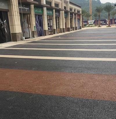 桂林彩色透水地坪广场客户案例实拍