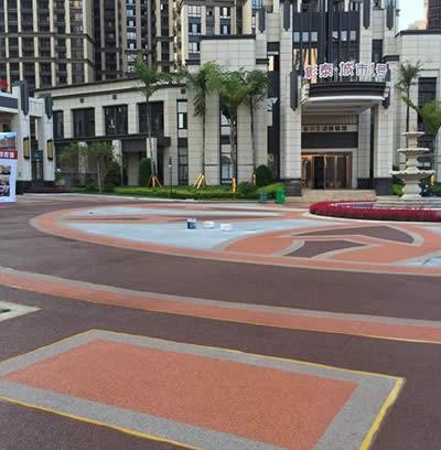 广西桂林彩色透水混凝土项目竣工