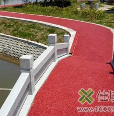 彩色透水混凝土环湖绿道