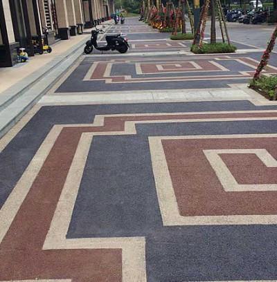 广西贵州彩色透水地坪广场案例