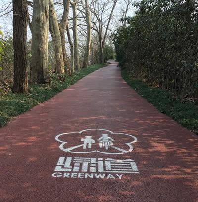 四川彩色透水混凝土路面案例实拍