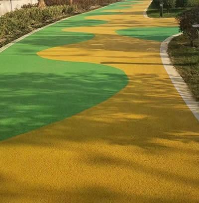 彩色透水地坪(生态彩色透水地坪)景观透水道路铺装